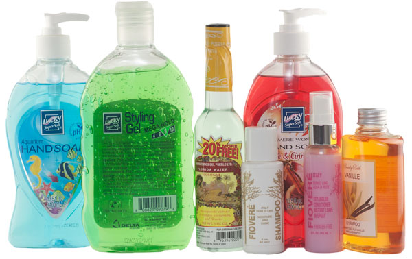 Personal care labels including cosmetic labels, shampoo bottle labels and personal care product labels.
